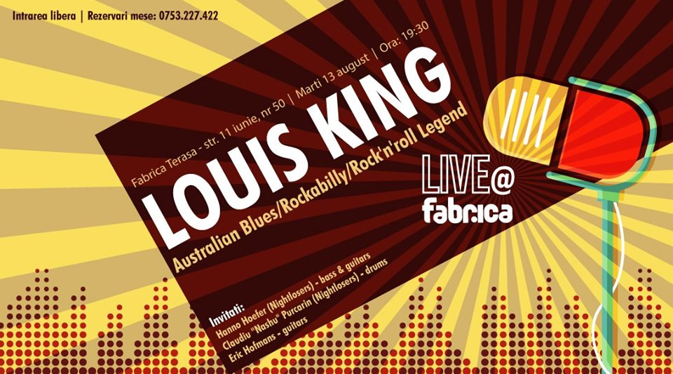 Louis King(australian blues rockabilly legend) at Fabrica Terasa