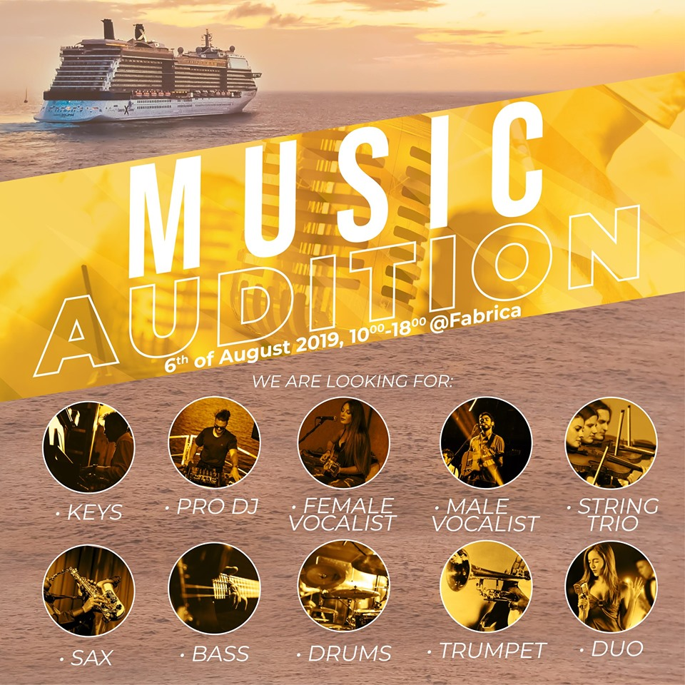 Music Auditions for Cruise Ships - Bucharest