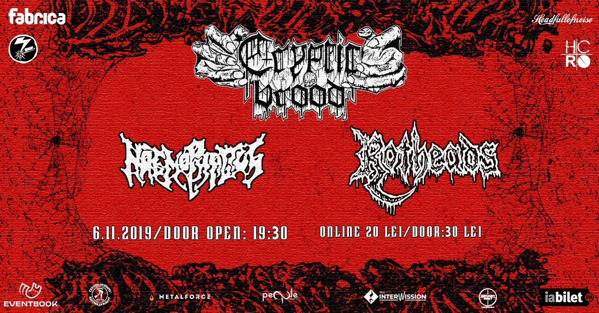 Cryptic Brood & Haemophagus & Rotheads -06.11.2019 -Club Fabrica