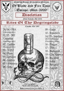 Diocletian + Rites of Thy Degringolade live in Fabrica